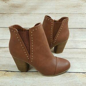NEW LC Lauren Conrad Brown Ankle Booties 7.5